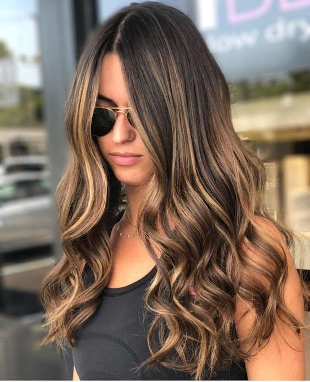 bayalage en pelo largo