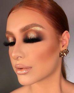 maquillaje tonos dorados